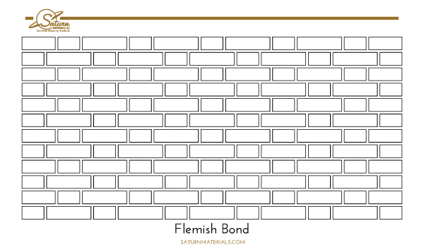 Saturn Materials-Flemish Bond brick pattern