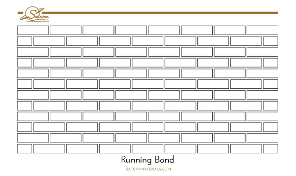 Saturn Materials-Running or Stretcher Bond brick pattern